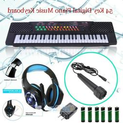 54 Key Digital Music Piano Keyboard Portable Musical Instrum