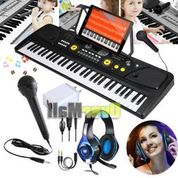 61-Key Electronic Keyboard Portable Digital Music Piano with