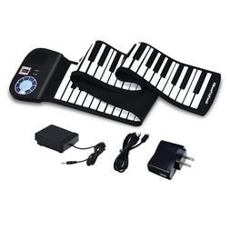 88 Key Electronic Roll Up Piano Keyboard Silicone Rechargeab
