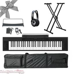 Artesia A-61 61 Key Electronic Digital Piano Keyboard Bundle