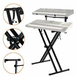 Yaheetech Pro Adjustable 2-Tier X Style Dual Keyboard Stand