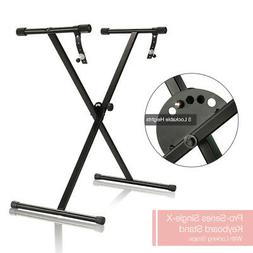 "Black Keyboard Piano ""X"" Stand Electric Organ Rack Metal Hei"