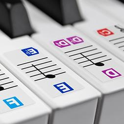 Color Piano Stickers for Keys – Removable w/ Double Layer
