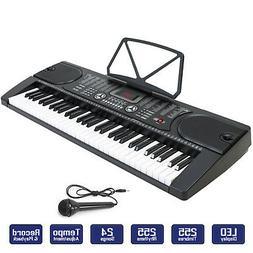 Digital Piano Keyboard 61 Key - Portable Electronic Instrume