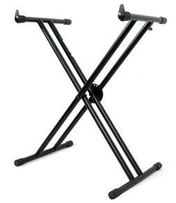 Rockville Double X Braced Keyboard Stand w Push Button Lock