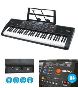 Electric Piano Music Keyboard Portable Plixio 61 Key with US