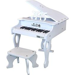Schoenhut 30 Key Digital Baby Grand Toy Piano, White, One Si
