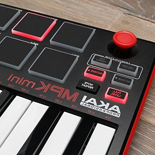 Akai MKII | 16 Backlit Performance-Ready Pads, 8-Assignable Knobs A 4-Way Thumbstick
