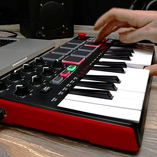 Akai Professional Mini MKII 25-Key Portable USB MIDI With 16 Pads, 8-Assignable