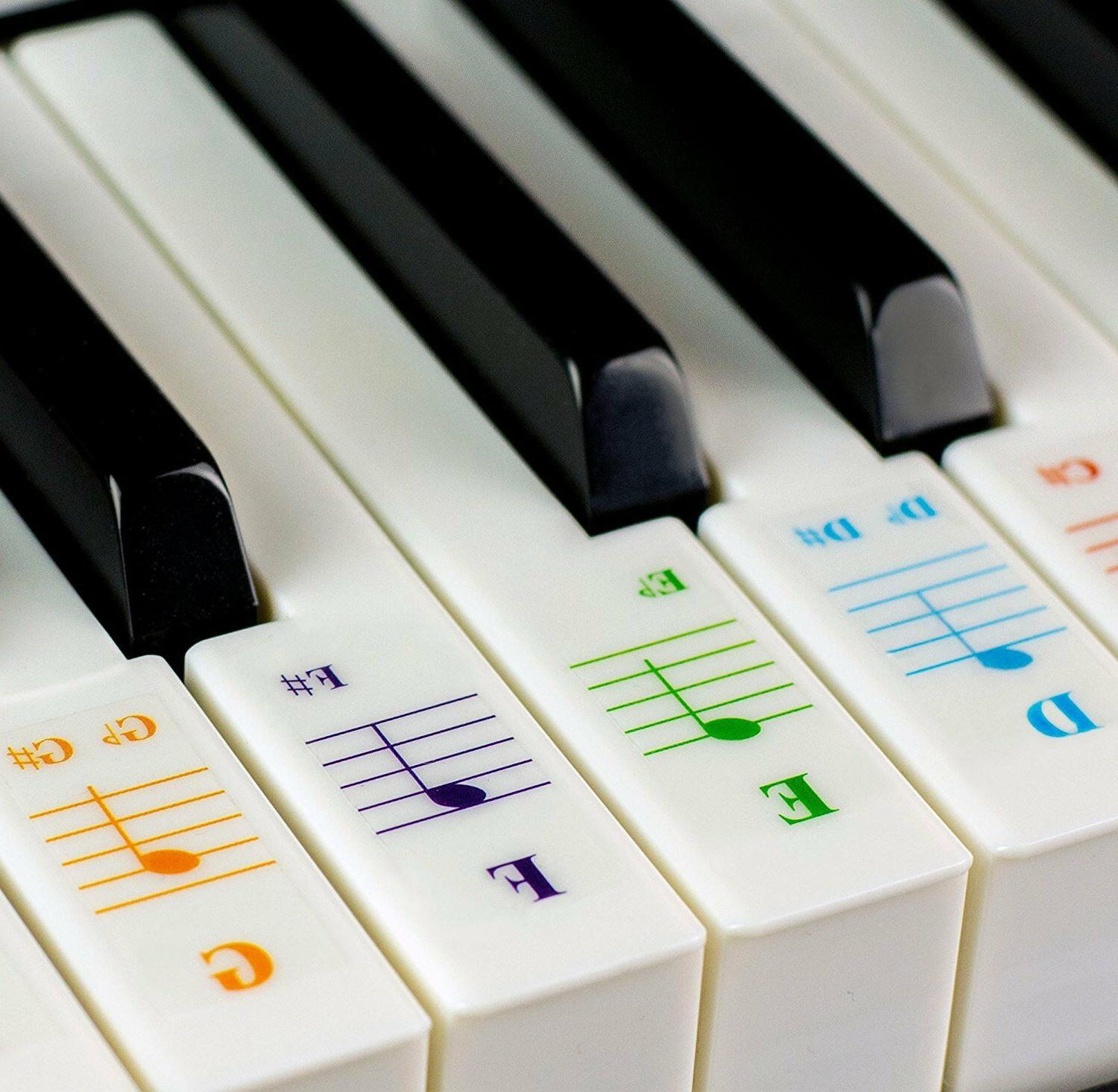 color piano stickers for 49 61 76