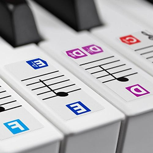 color piano stickers keys removable double layer coating key