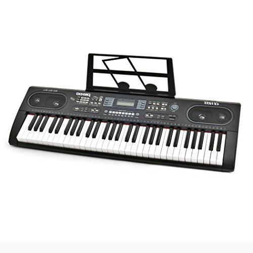 Plixio 61 Electronic Keyboard Piano Display, USB Input- Portable Music