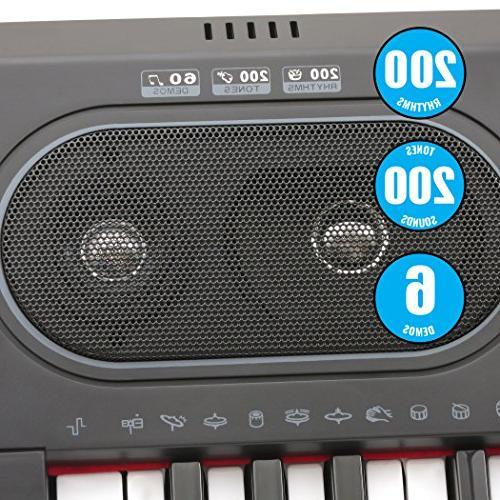 Plixio Key Electronic Keyboard Piano Display, Stereo & Input- Music