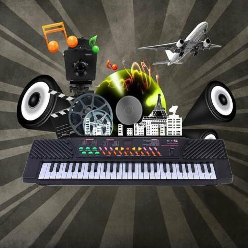 54 Music Electronic Keyboard Kid Piano Organ W/Mic Adapter LY