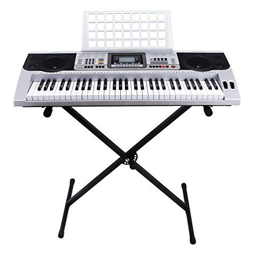 LAGRIMA Music Digital Electronic Keyboard Portable Electric with Stand for