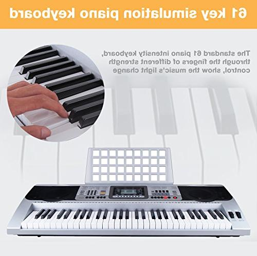 LAGRIMA Digital Electronic Keyboard Portable Electric Instrument with Beginners