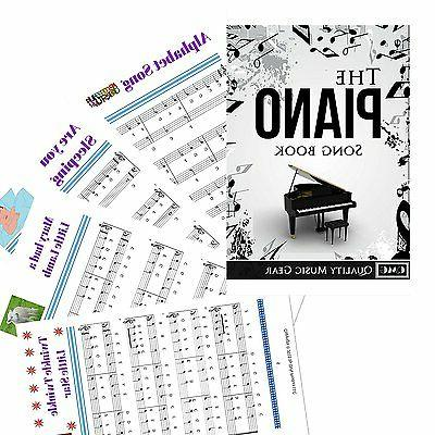 Piano Set Stickers and Keys