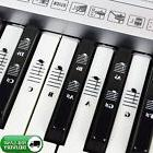Piano Keyboard Music Note Full Set Stickers for White & Blac