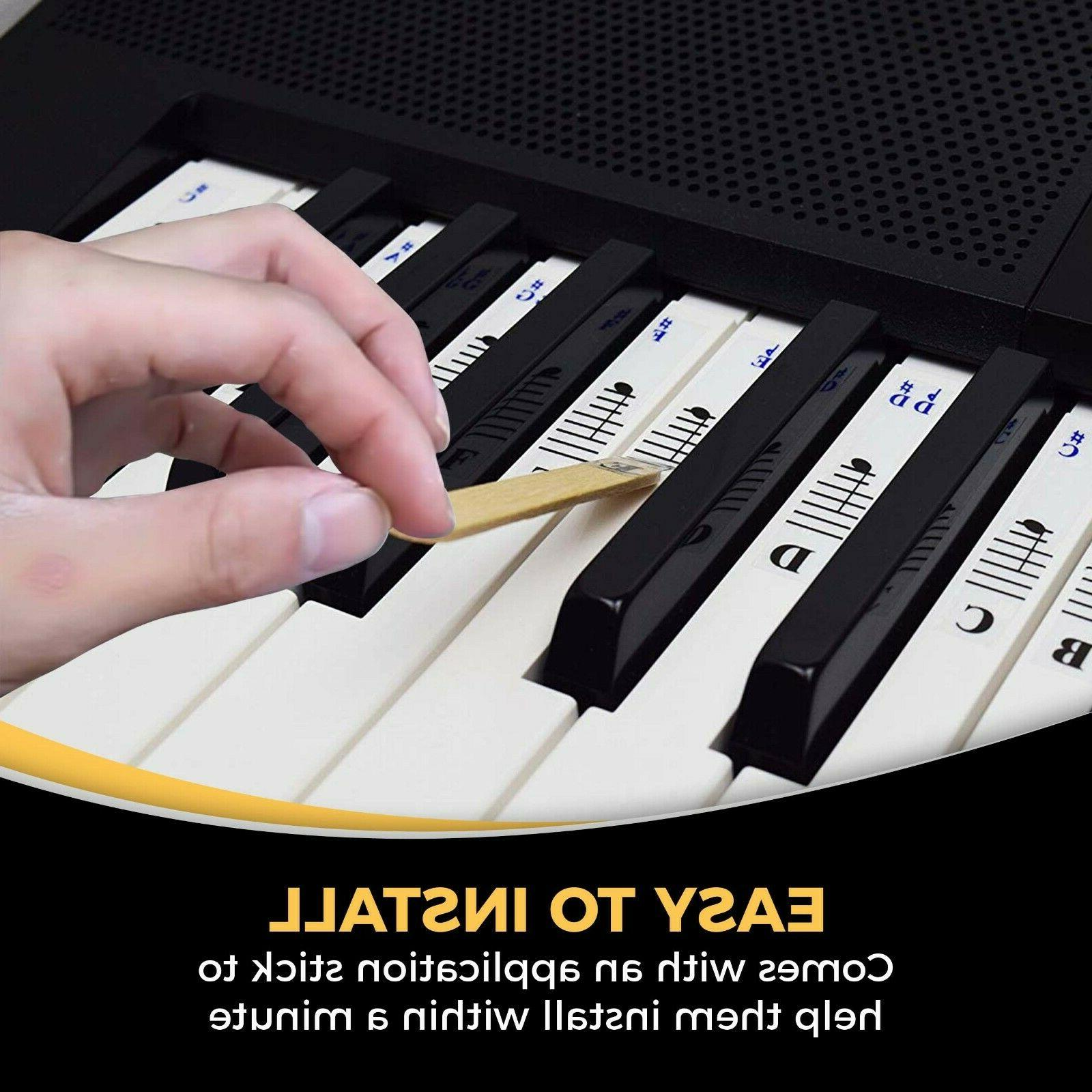Piano Stickers for / 76 88