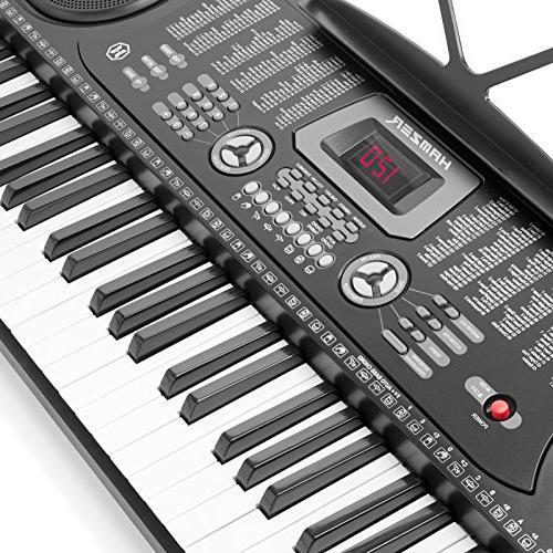 Hamzer Keyboard Piano Stool, Headphones & Microphone
