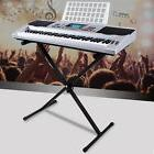 Silver 61 Key Music Digital Electronic Keyboard Electric Pia