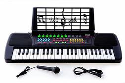 New De Rosa KB49 49-Key Kid's Electronic Piano Keyboard w/ M