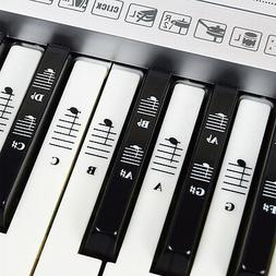 Piano and Keyboard  Full Set Stickers for White and Black Ke