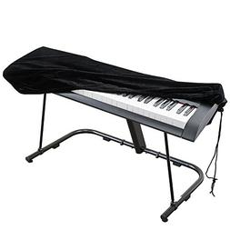 Piano Keyboard Cover, Stretchable Velvet Dust Cover with Adj
