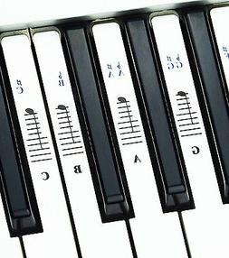 Piano Stickers for 76 and 88 Key Keyboards – Transparent a