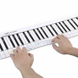 Portable 88 Key Electronic Piano Keyboard Flexible Roll Up P