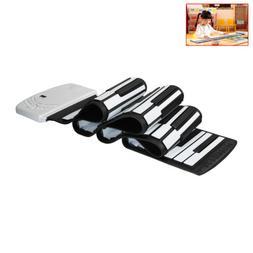 Portable 88 Keys Flexible Silicon Roll Up Piano USB Electron
