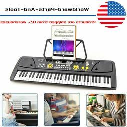 Potable 61 Keys Electronic Keyboard Digital Music Piano w/ M