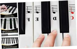 QMG Piano Stickers for 49/61/ 76/88 Key Keyboards – Transp