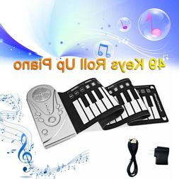 Silicone Hand Roll Piano Keyboard Hand Roll Portable Flexibl