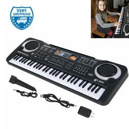 US 61 Keys Kids Electronic Music Keyboard Electric Digital P